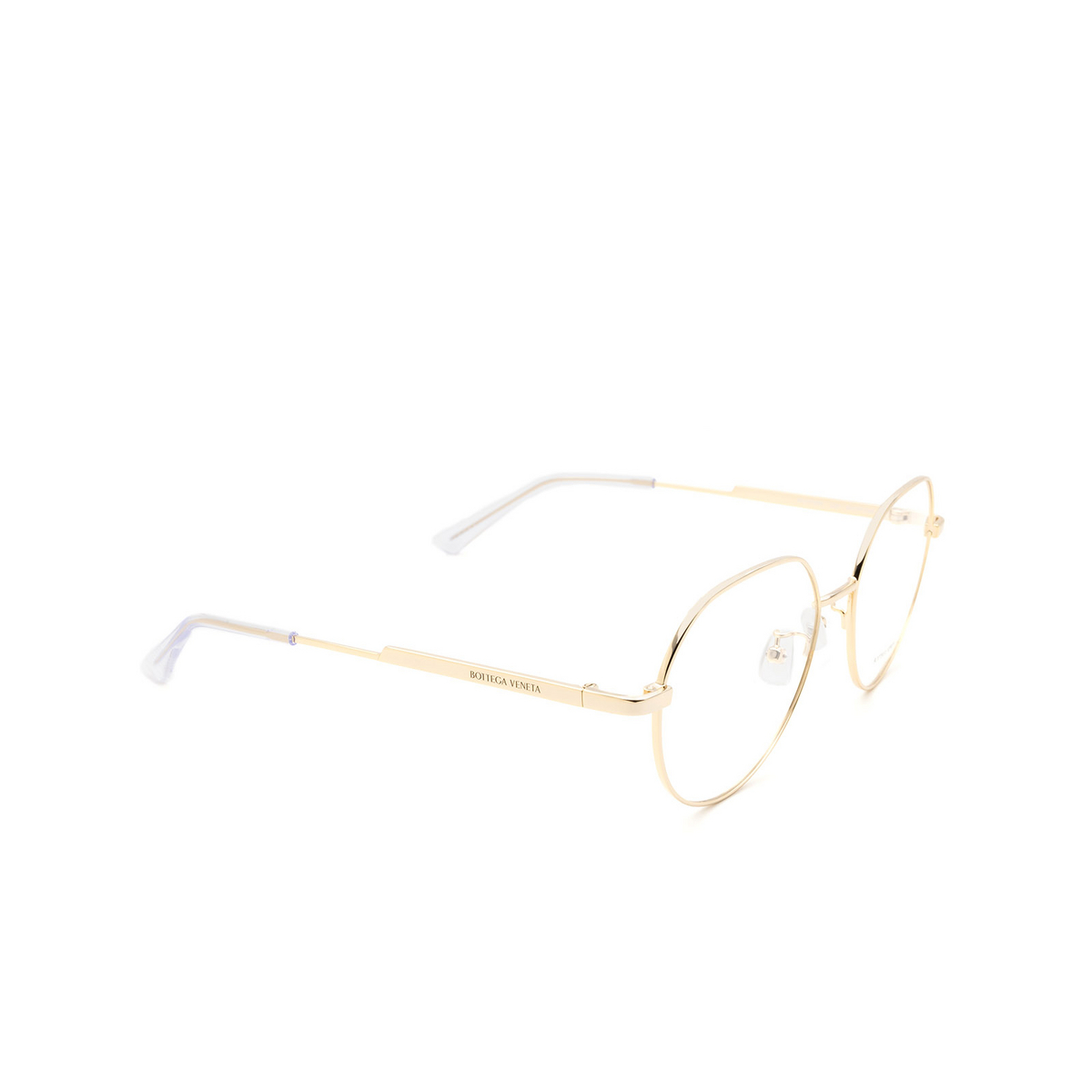 Bottega Veneta® Eyeglasses: BV1076OA color Gold 002 - front view.