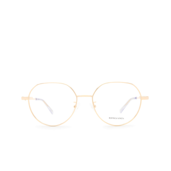 Bottega Veneta® Irregular Eyeglasses: BV1076OA color Gold 002.