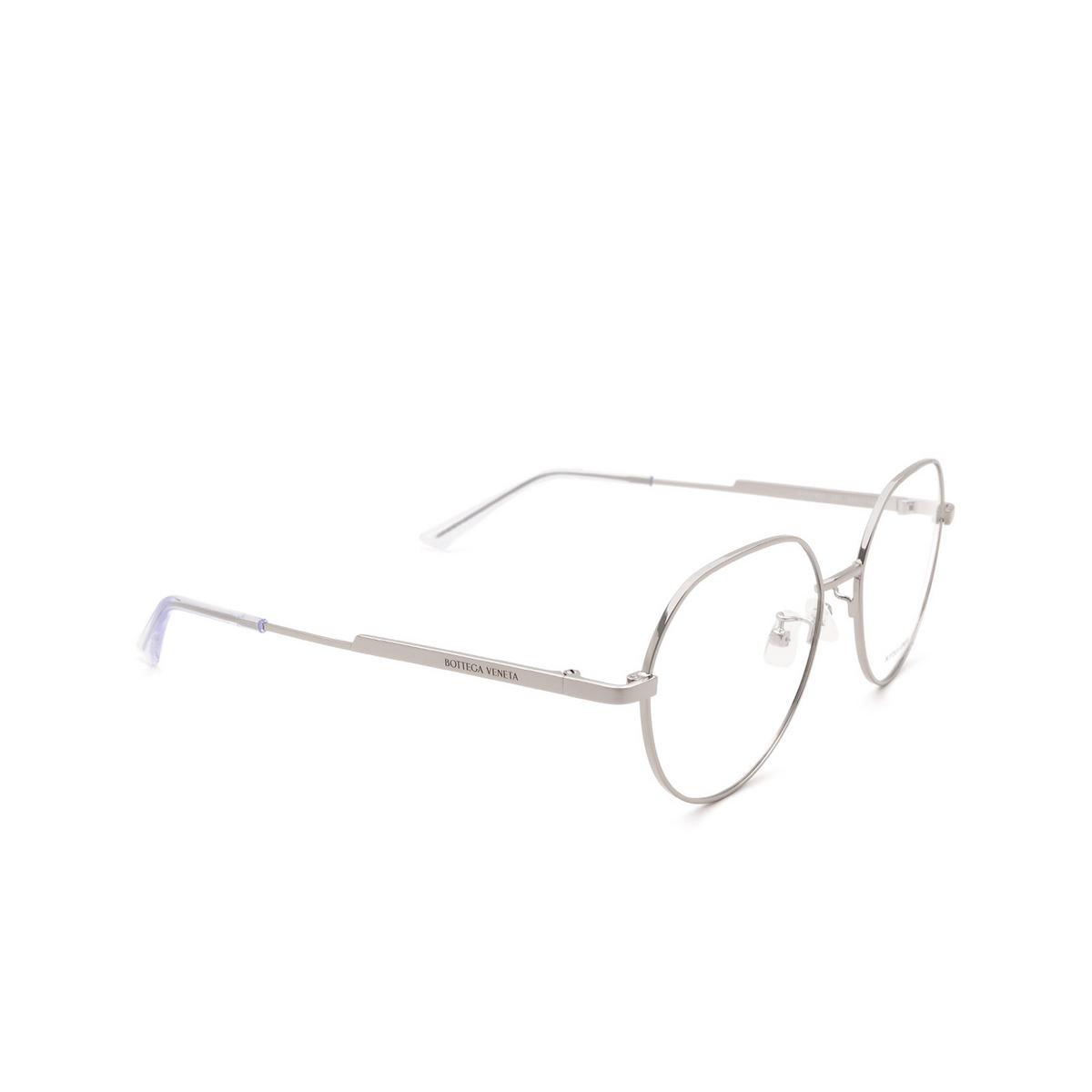 Bottega Veneta® Round Eyeglasses: BV1076OA color Ruthenium 003.