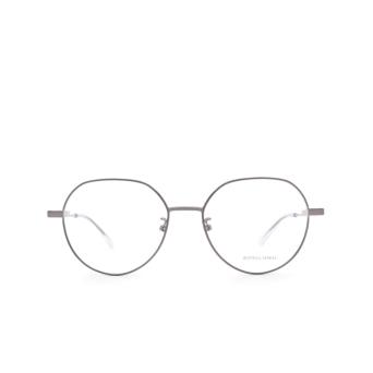 Bottega Veneta® Irregular Eyeglasses: BV1076OA color Ruthenium 004.