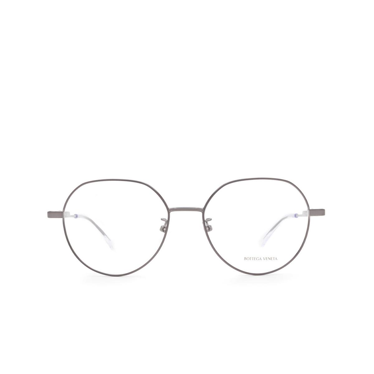 Bottega Veneta® Irregular Eyeglasses: BV1076OA color Ruthenium 004 - front view.