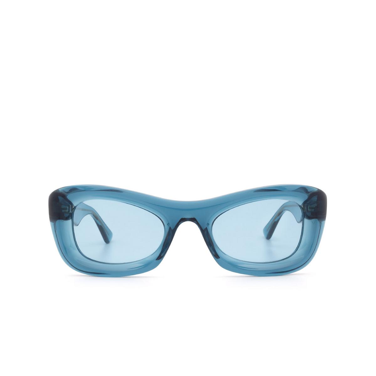 Bottega Veneta® Rectangle Sunglasses: BV1088S color Blue 001 - front view.