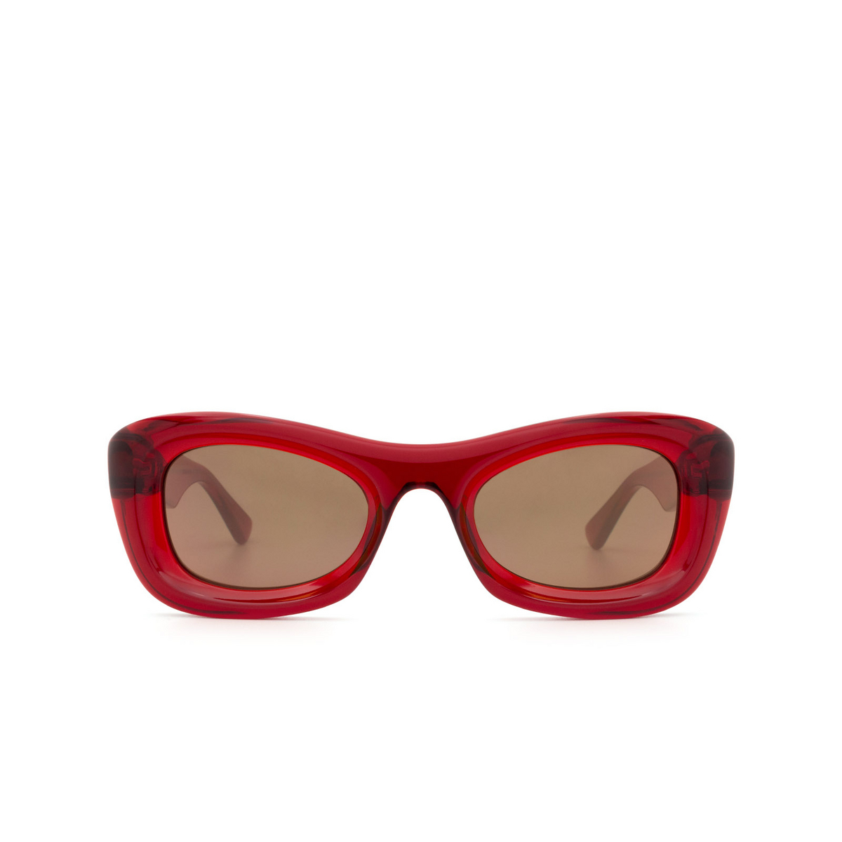 Bottega Veneta® Rectangle Sunglasses: BV1088S color Burgundy 007 - front view.