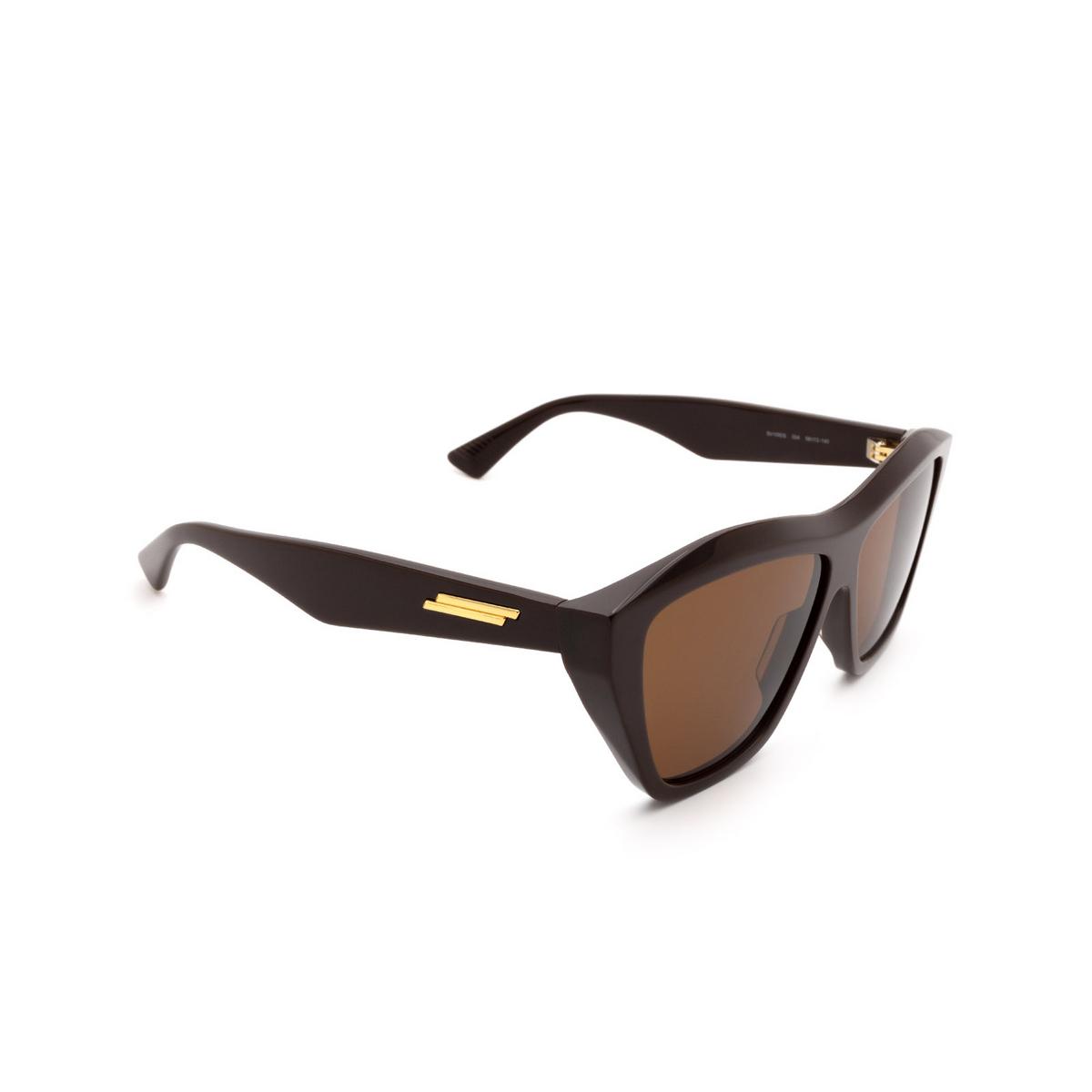 Bottega Veneta® Square Sunglasses: BV1092S color Brown 004.