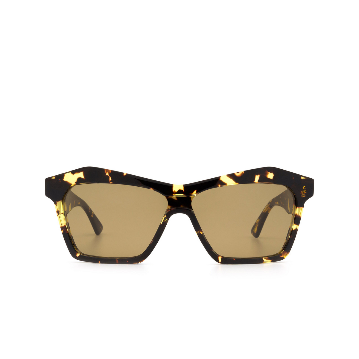 Bottega Veneta® Irregular Sunglasses: BV1093S color Havana 002 - front view.