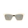 Bottega Veneta® Irregular Sunglasses: BV1093S color Ivory 003 - product thumbnail 1/3.