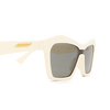 Bottega Veneta® Irregular Sunglasses: BV1093S color Ivory 003 - product thumbnail 3/3.