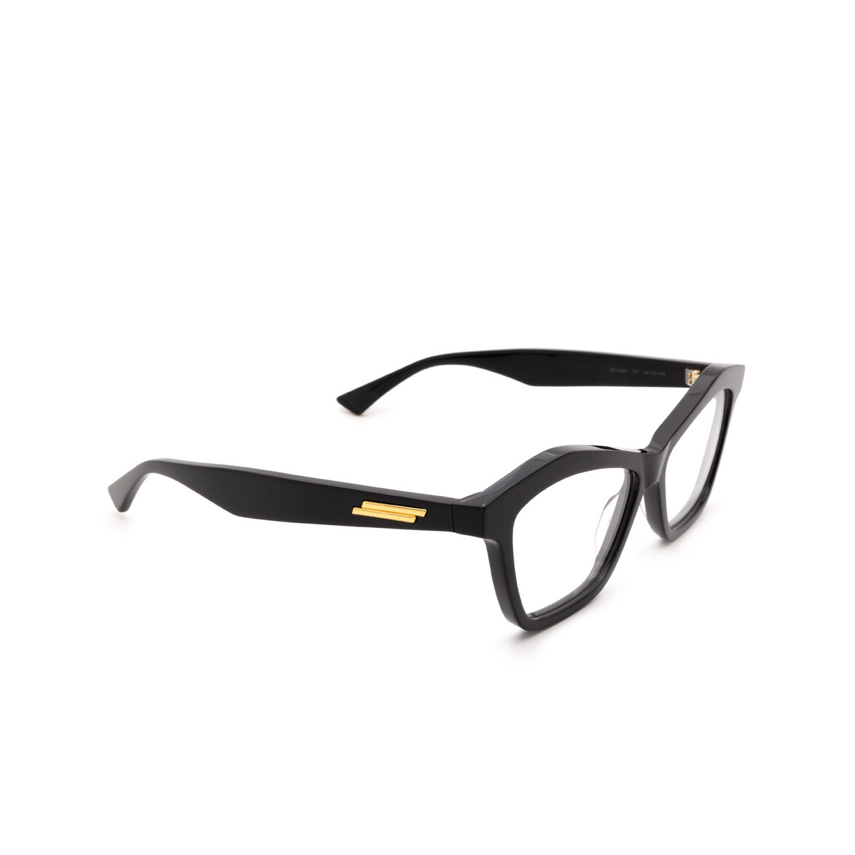 Bottega Veneta® Cat-eye Eyeglasses: BV1096O color Black 001.