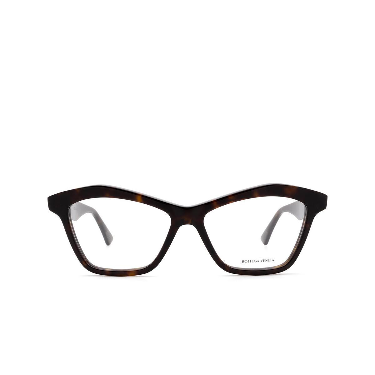 Bottega Veneta® Irregular Eyeglasses: BV1096O color Havana 002 - front view.