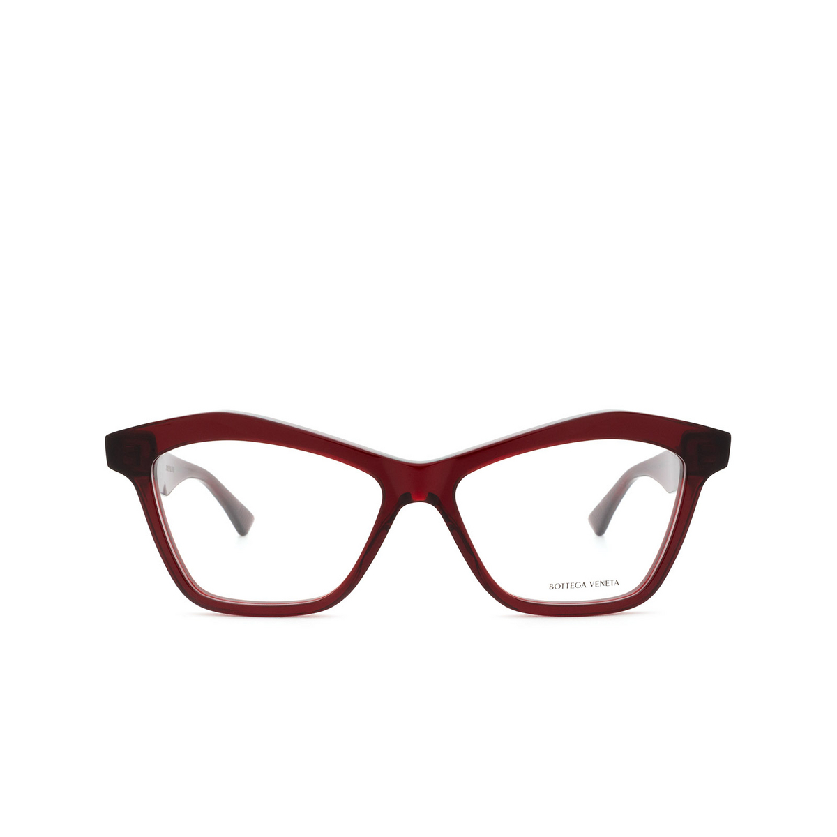 Bottega Veneta® Cat-eye Eyeglasses: BV1096O color Red 003 - front view.