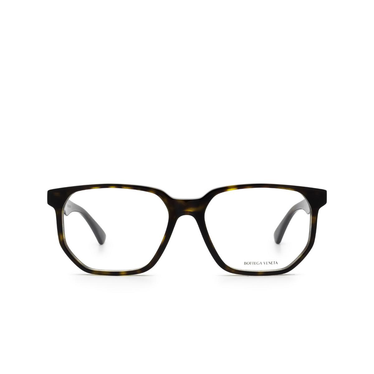 Bottega Veneta® Irregular Eyeglasses: BV1097O color Havana 002 - front view.