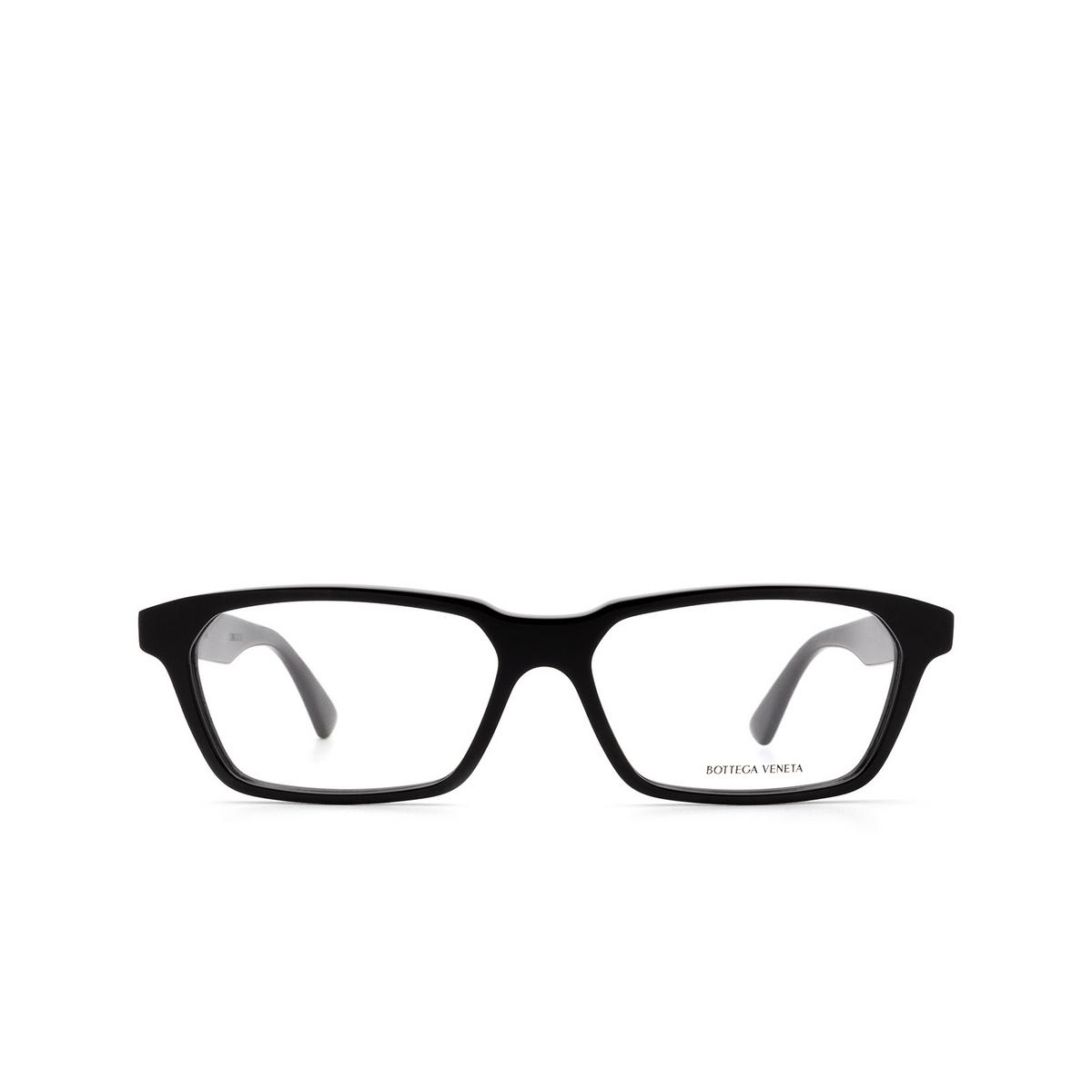 Bottega Veneta® Rectangle Eyeglasses: BV1098O color Black 001 - front view.