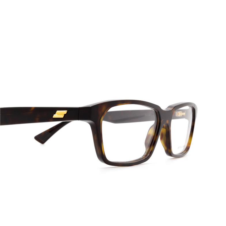 Bottega Veneta® Rectangle Eyeglasses: BV1098O color Havana 002.