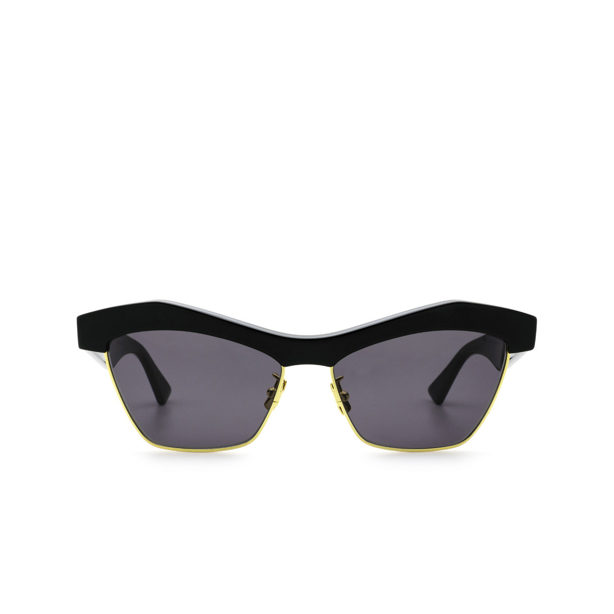 Bottega Veneta® Irregular Sunglasses: BV1099S color Black 001 - front view.