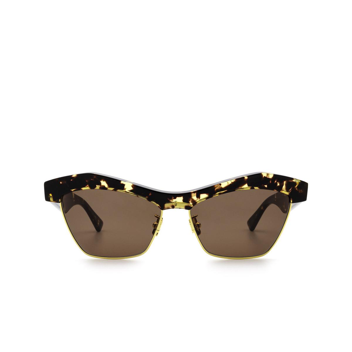 Bottega Veneta® Irregular Sunglasses: BV1099S color Havana 002 - front view.