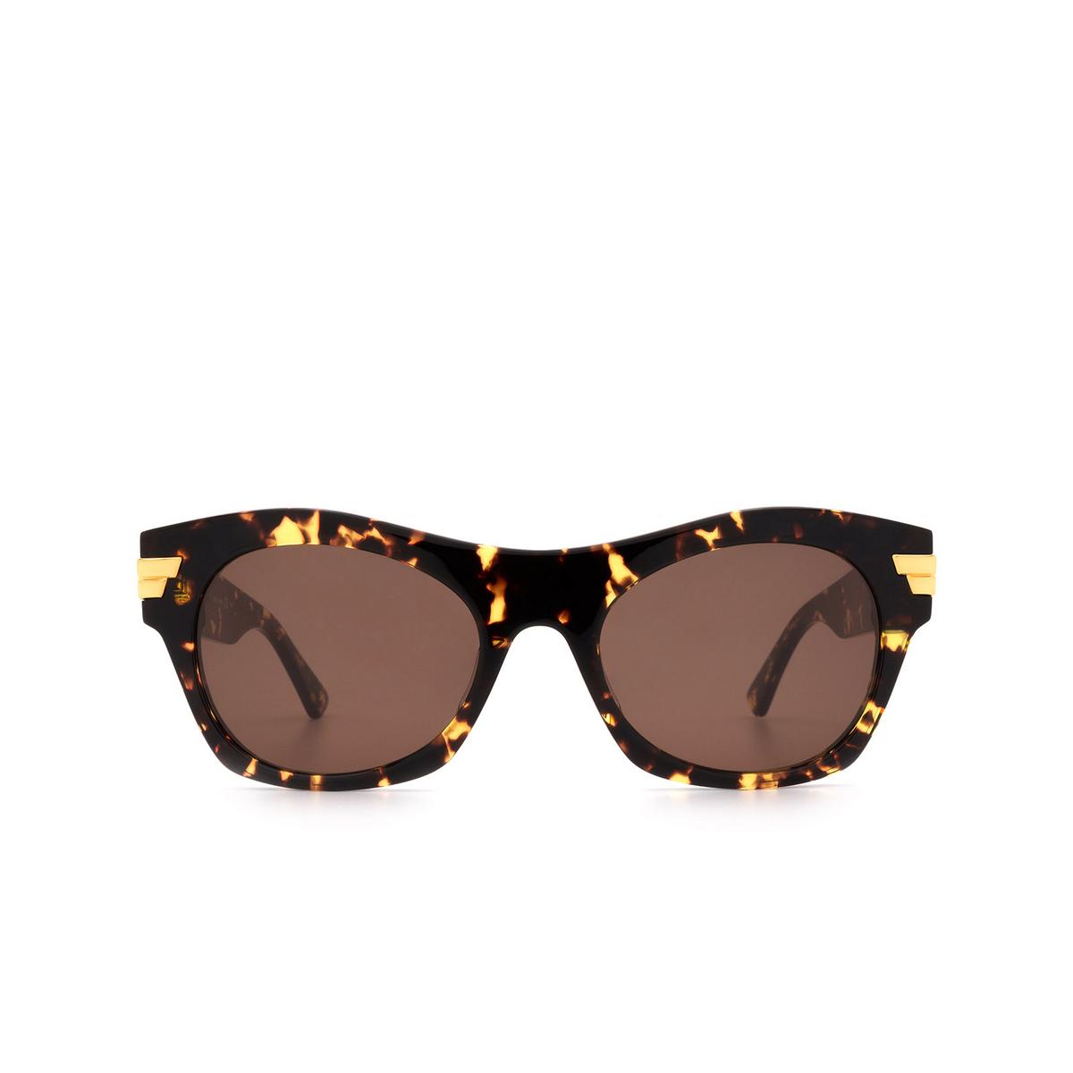 Bottega Veneta® Square Sunglasses: BV1103S color Havana 002 - front view.