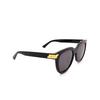Bottega Veneta® Round Sunglasses: BV1104SA color Black 001 - product thumbnail 2/3.