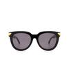 Bottega Veneta® Round Sunglasses: BV1104SA color Black 001 - product thumbnail 1/3.