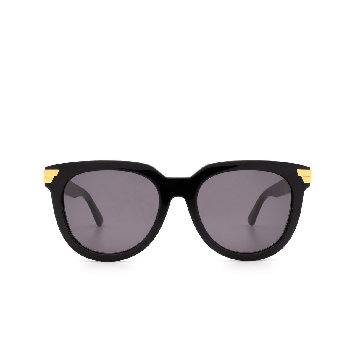 Bottega Veneta® Round Sunglasses: BV1104SA color Black 001 - front view.