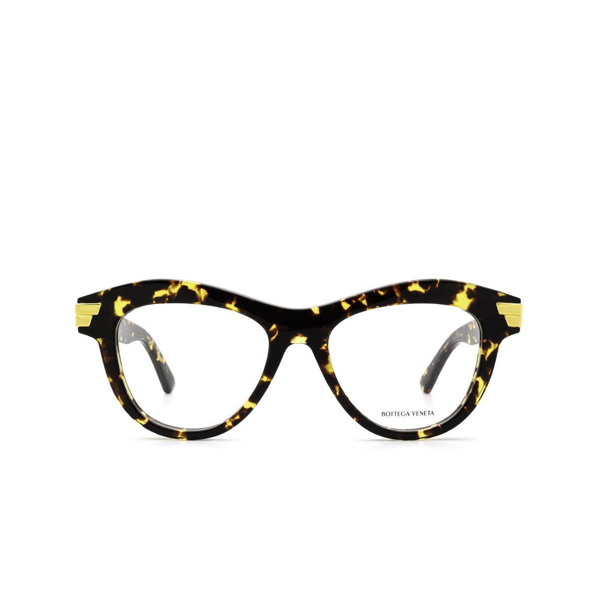 Bottega Veneta® Cat-eye Eyeglasses: BV1105O color Havana 002 - front view.