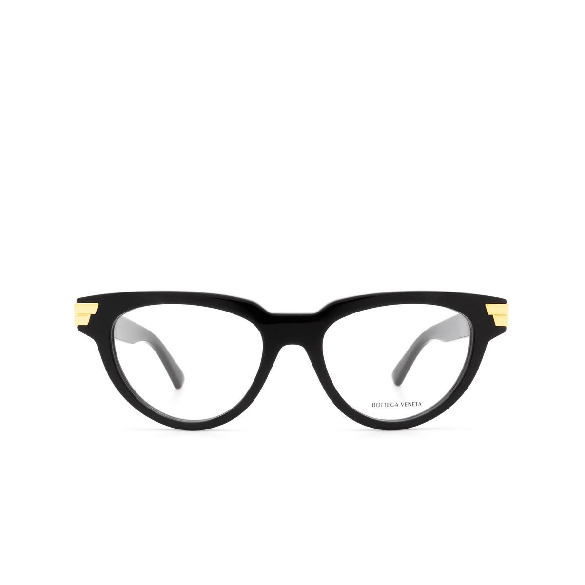 Bottega Veneta® Cat-eye Eyeglasses: BV1106O color Black 001 - front view.