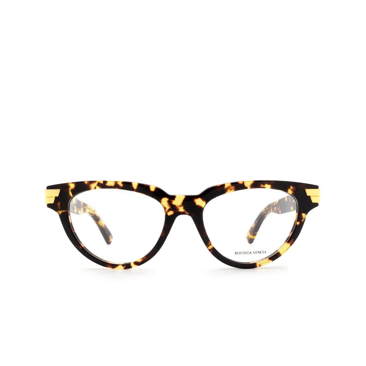 Bottega Veneta® Cat-eye Eyeglasses: BV1106O color Havana 002 - front view.