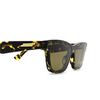 Bottega Veneta® Cat-eye Sunglasses: BV1119S color Havana 002 - product thumbnail 3/3.