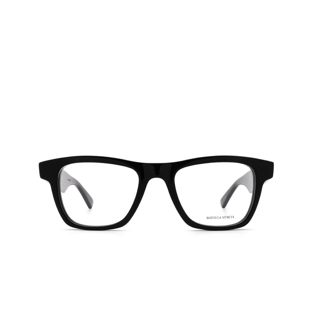 Bottega Veneta® Square Eyeglasses: BV1120O color Black 001 - front view.