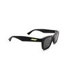 Bottega Veneta® Square Sunglasses: BV1120S color Black 001 - product thumbnail 2/3.