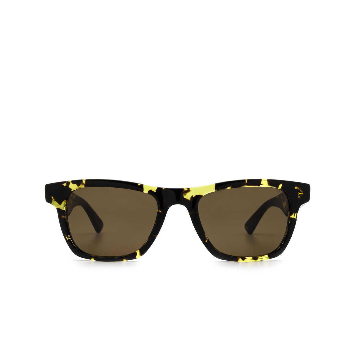 Bottega Veneta® Square Sunglasses: BV1120S color Havana 002 - front view.