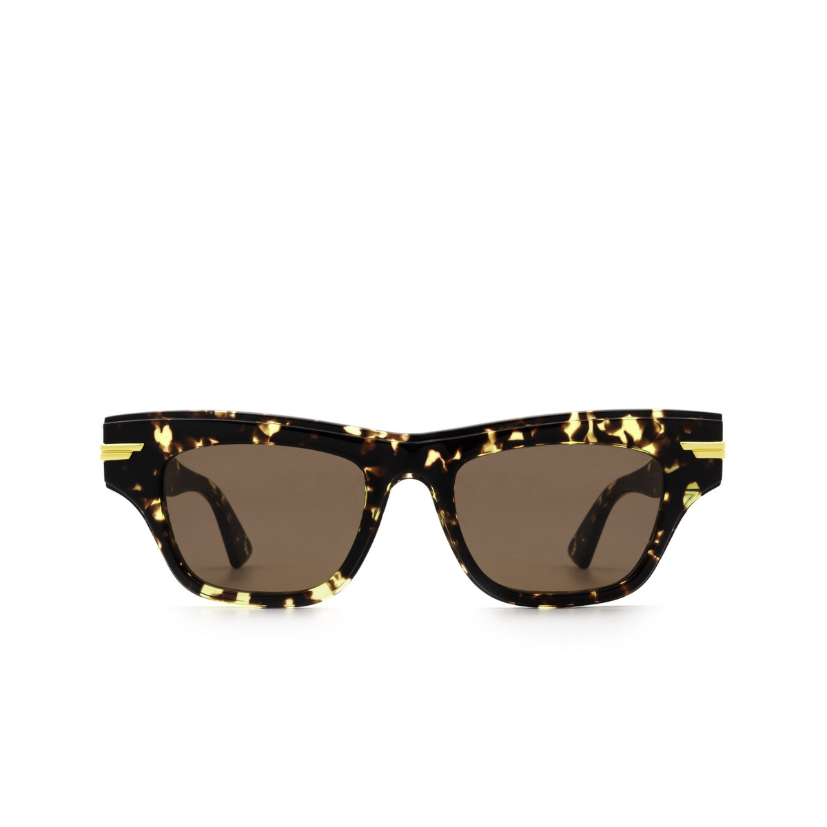 Bottega Veneta® Cat-eye Sunglasses: BV1122S color Havana 002 - front view.