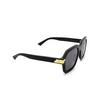 Bottega Veneta® Square Sunglasses: BV1123S color Black 001 - product thumbnail 2/3.