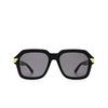 Bottega Veneta® Square Sunglasses: BV1123S color Black 001 - product thumbnail 1/3.