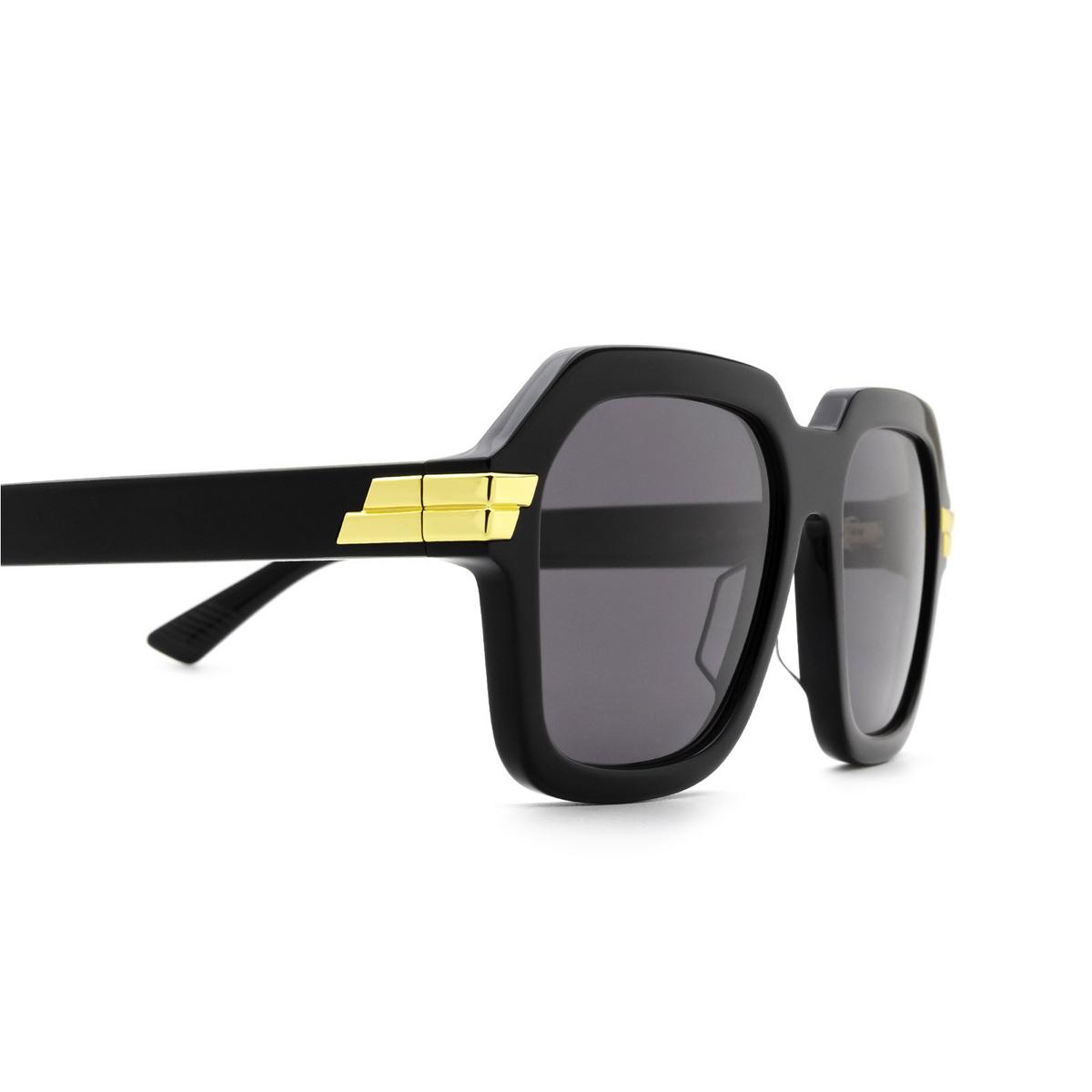 Bottega Veneta® Square Sunglasses: BV1123S color Black 001 - 3/3.