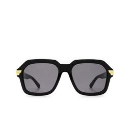 Bottega Veneta® Square Sunglasses: BV1123S color Black 001.