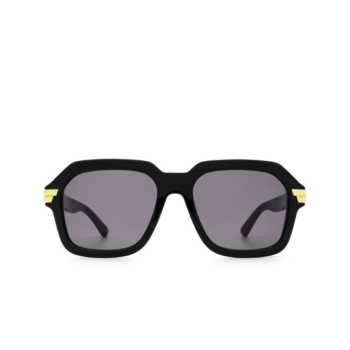 Bottega Veneta® Square Sunglasses: BV1123S color Black 001 - front view.