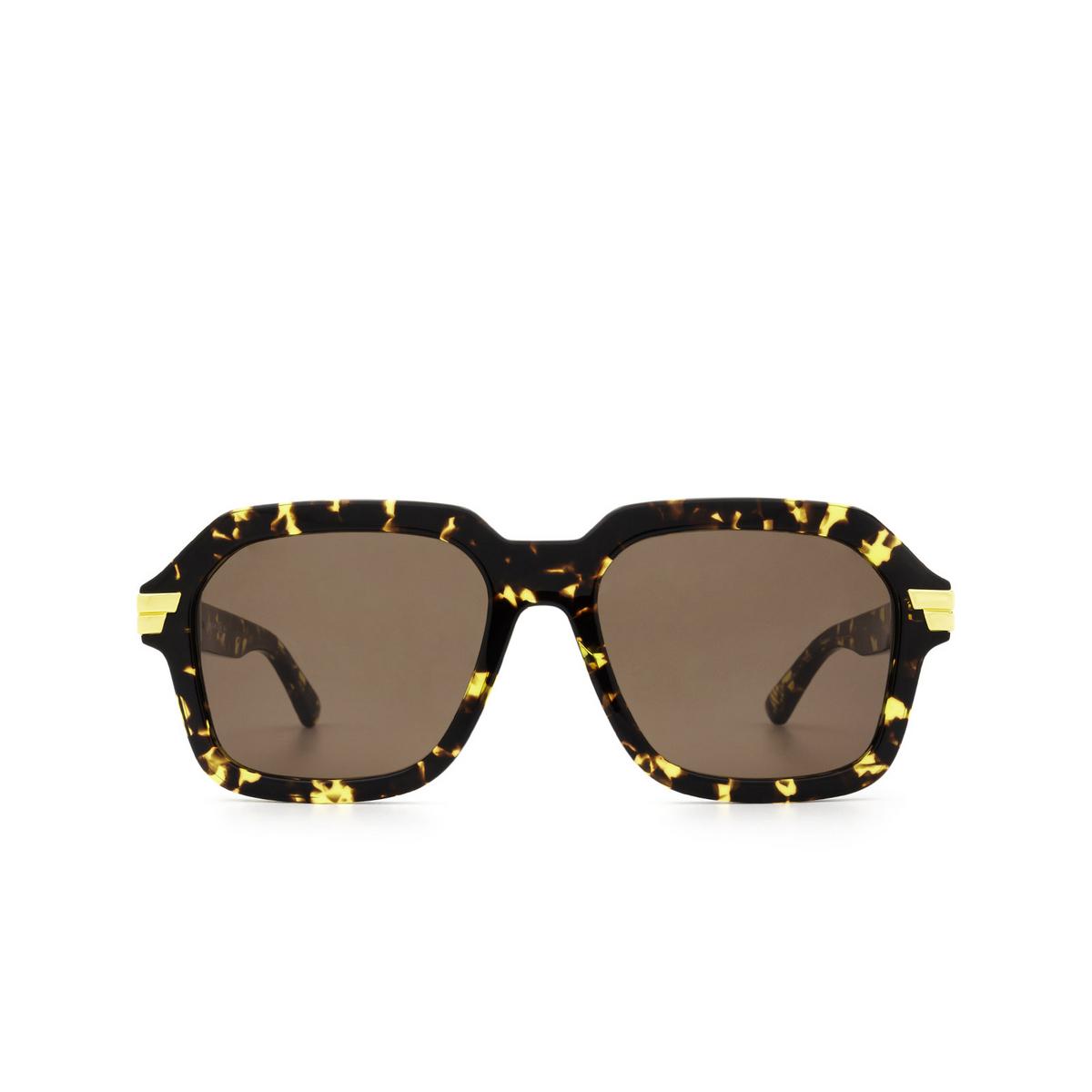 Bottega Veneta® Square Sunglasses: BV1123S color Havana 002 - front view.