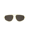 Bottega Veneta® Aviator Sunglasses: BV1125S color Gold 002 - product thumbnail 1/3.