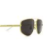 Bottega Veneta® Aviator Sunglasses: BV1125S color Gold 002 - product thumbnail 3/3.