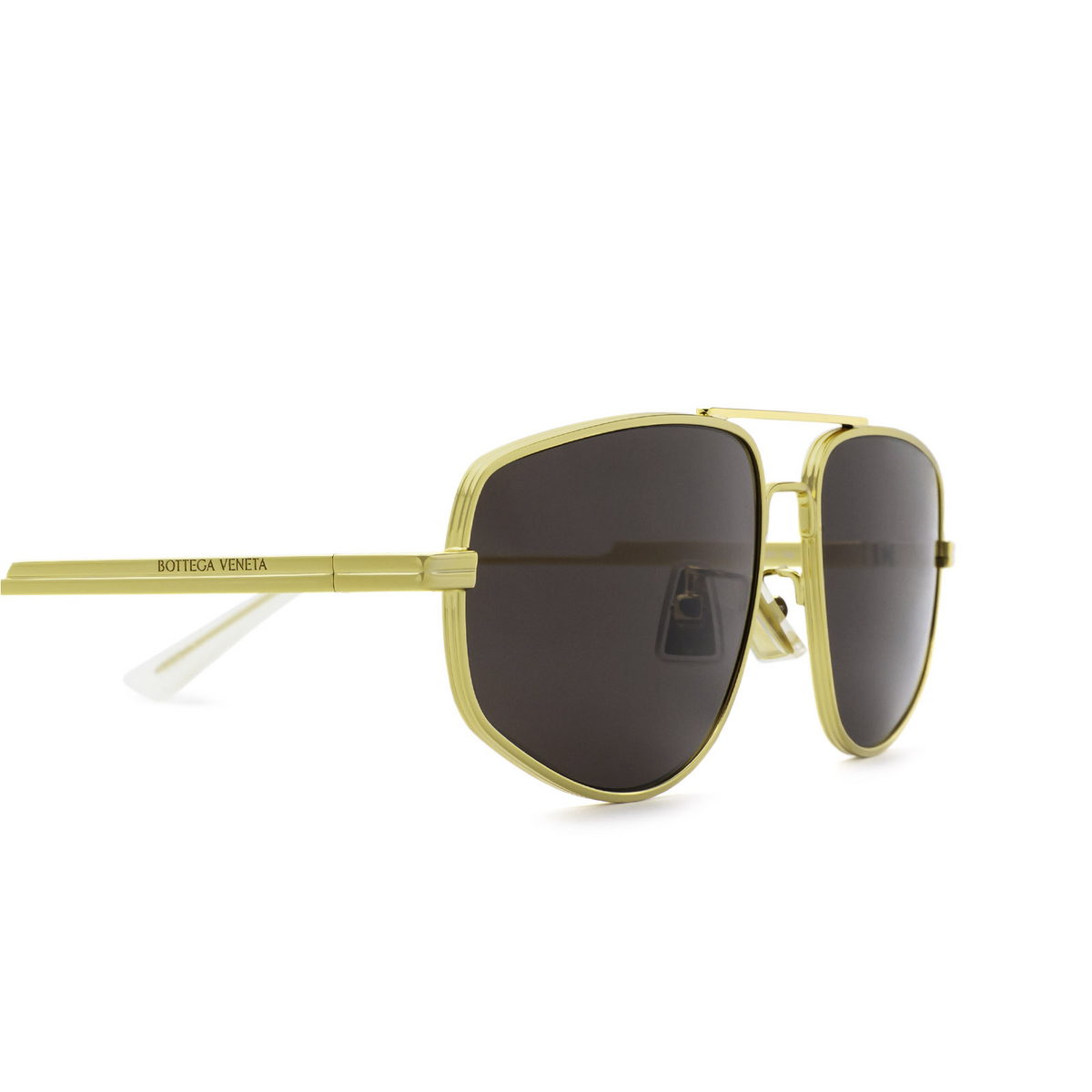 Bottega Veneta® Aviator Sunglasses: BV1125S color Gold 002 - 3/3.