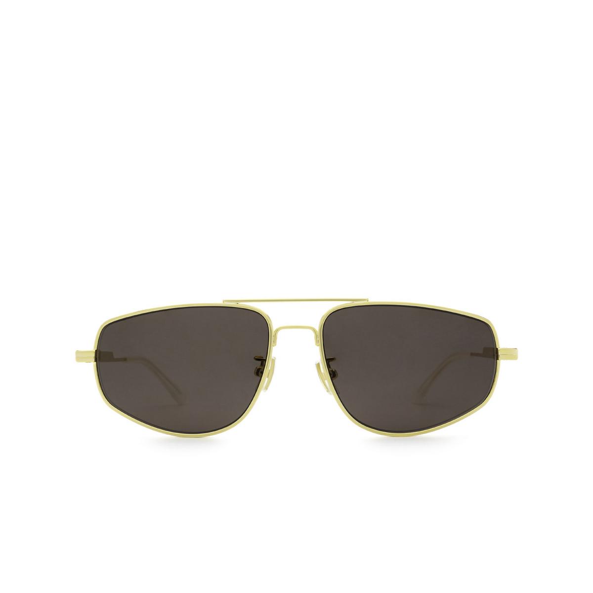 Bottega Veneta® Aviator Sunglasses: BV1125S color Gold 002 - front view.