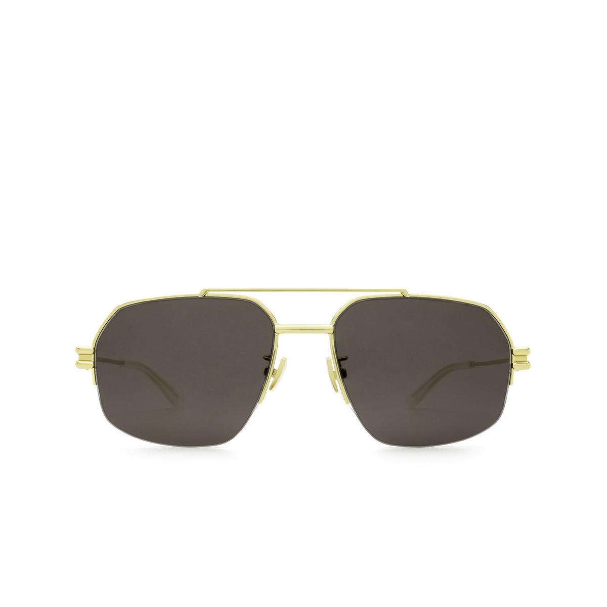 Bottega Veneta® Irregular Sunglasses: BV1127S color Gold 002 - front view.
