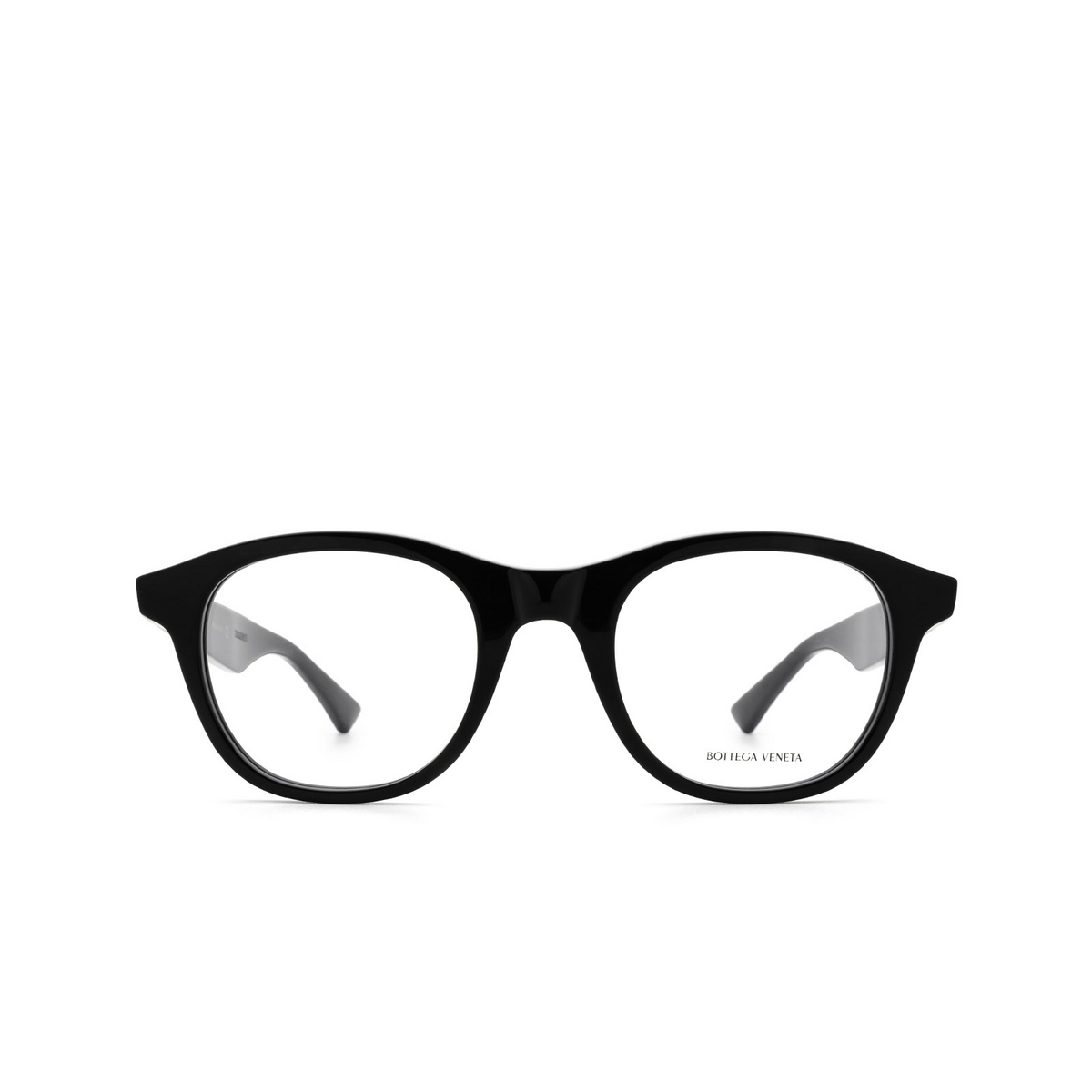 Bottega Veneta® Round Eyeglasses: BV1130O color Black 001 - front view.