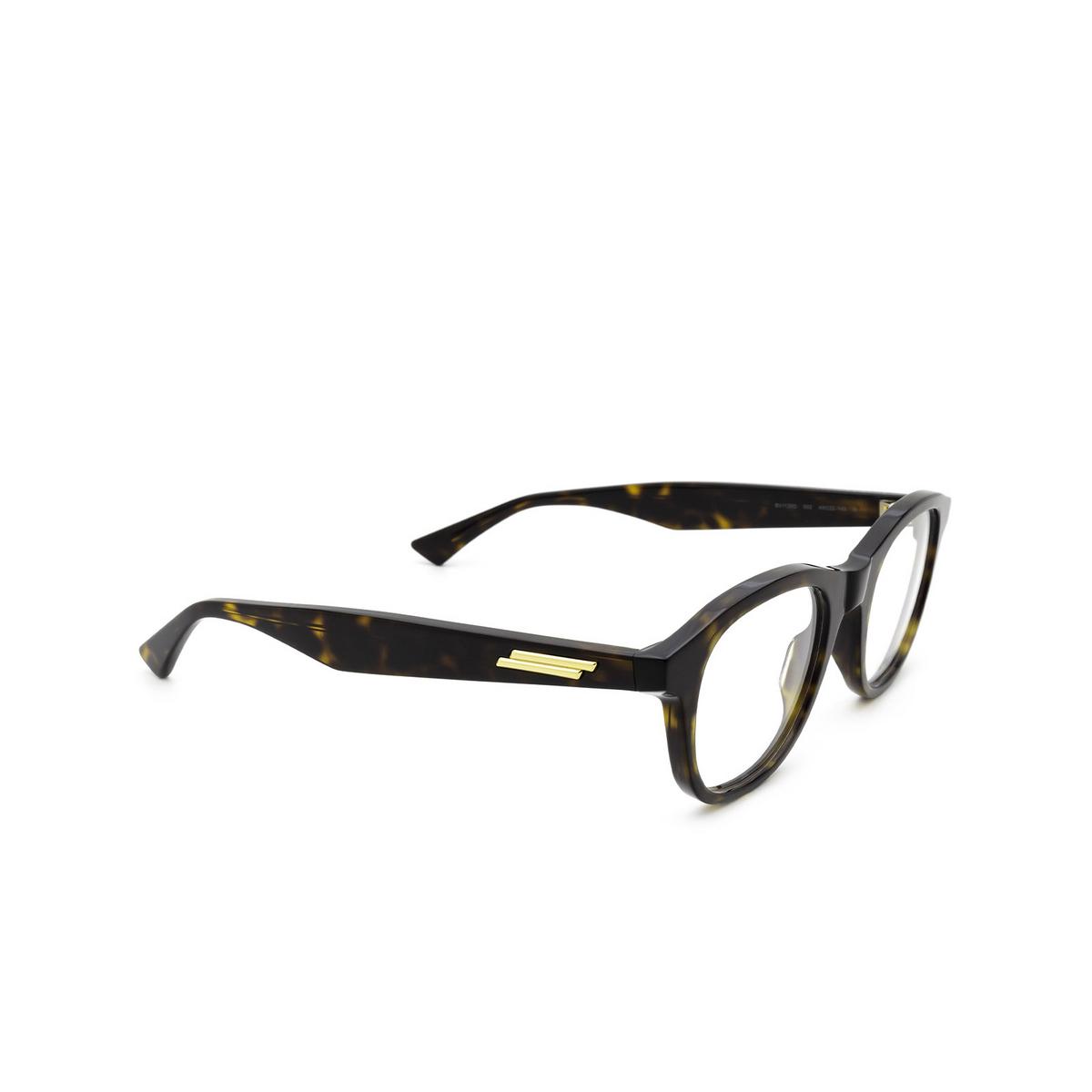 Bottega Veneta® Round Eyeglasses: BV1130O color Havana 002 - three-quarters view.