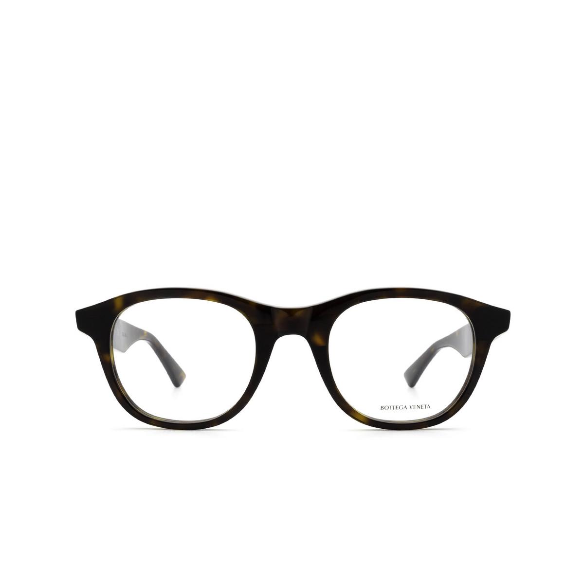 Bottega Veneta® Round Eyeglasses: BV1130O color Havana 002 - front view.