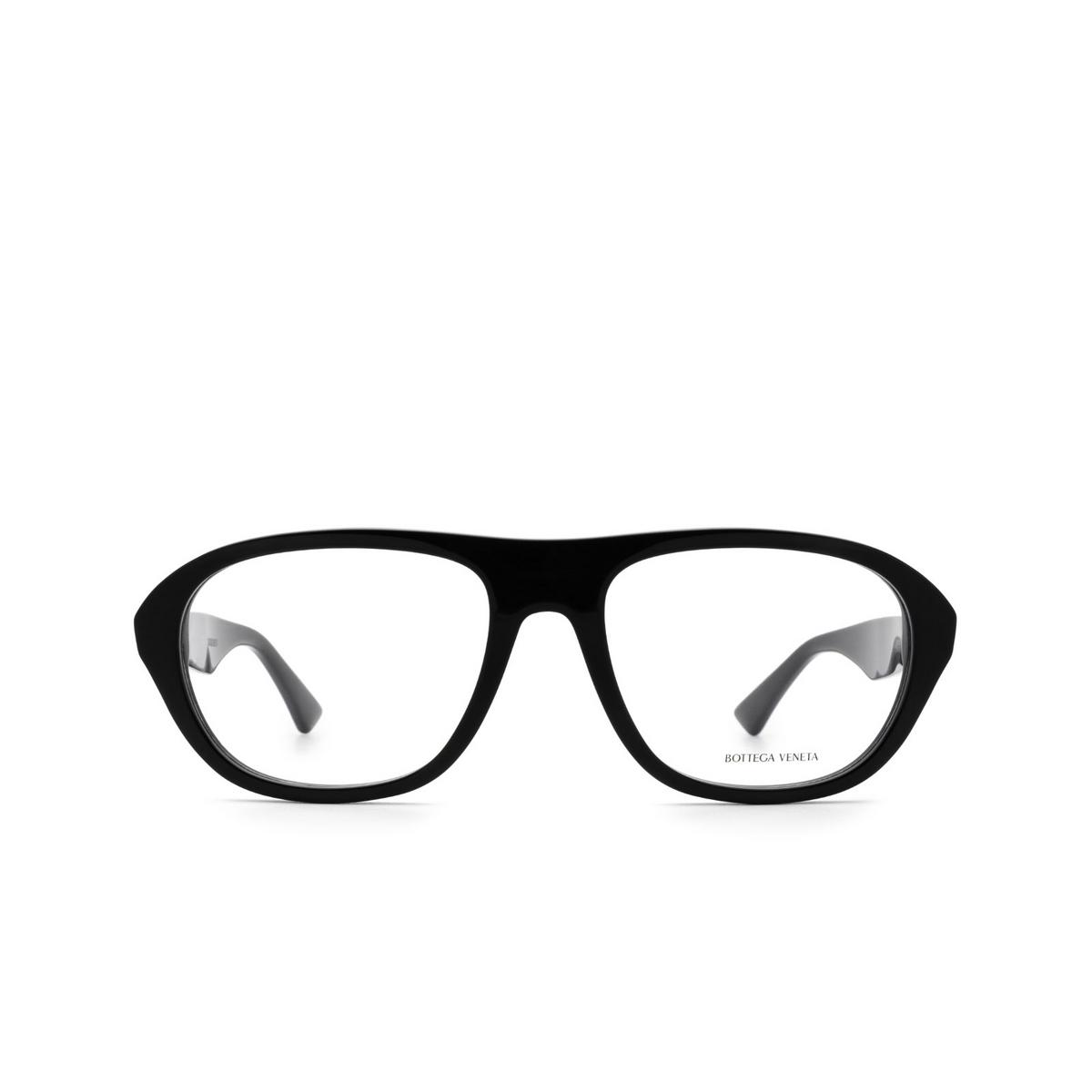Bottega Veneta® Rectangle Eyeglasses: BV1131O color Black 001 - front view.
