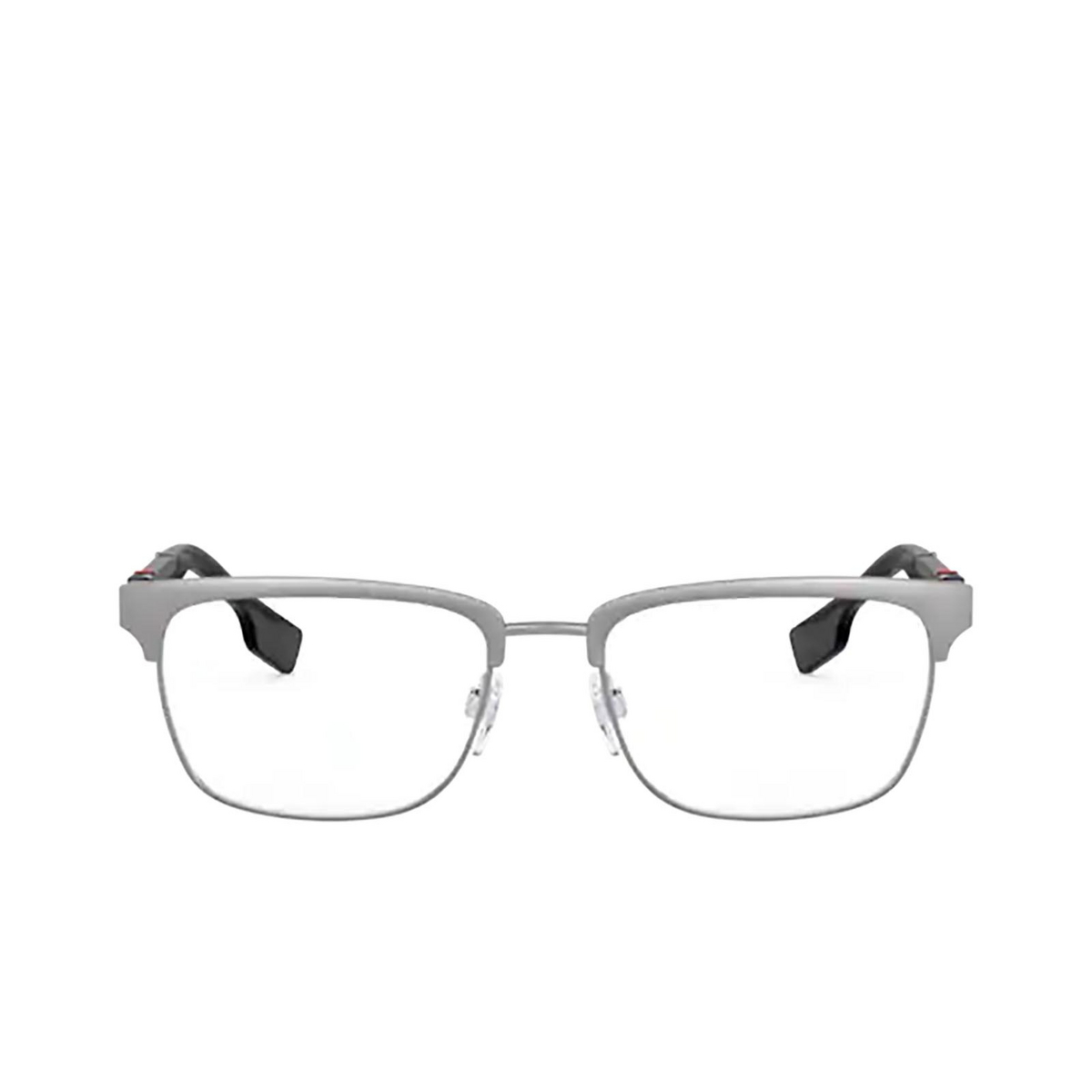 Burberry® Rectangle Eyeglasses: Alba BE1348 color Brushed Gunmetal 1008 - front view.