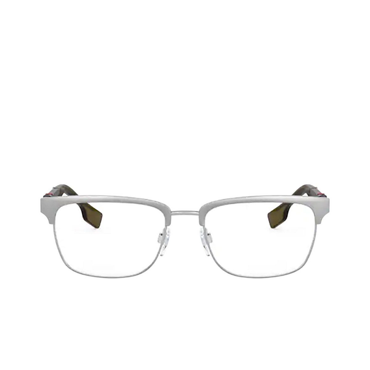 Burberry® Rectangle Eyeglasses: Alba BE1348 color Brushed Silver 1166 - front view.