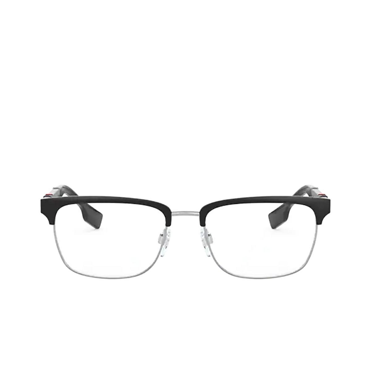 Burberry® Rectangle Eyeglasses: Alba BE1348 color Silver / Matte Black 1306 - front view.