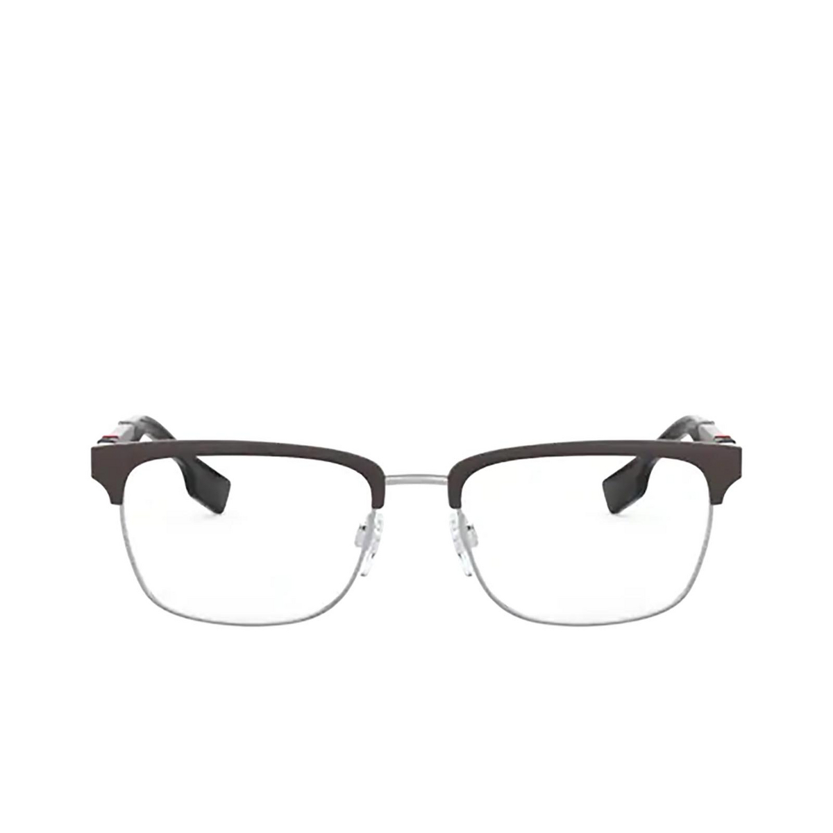 Burberry® Rectangle Eyeglasses: Alba BE1348 color Silver / Matte Brown 1307 - front view.